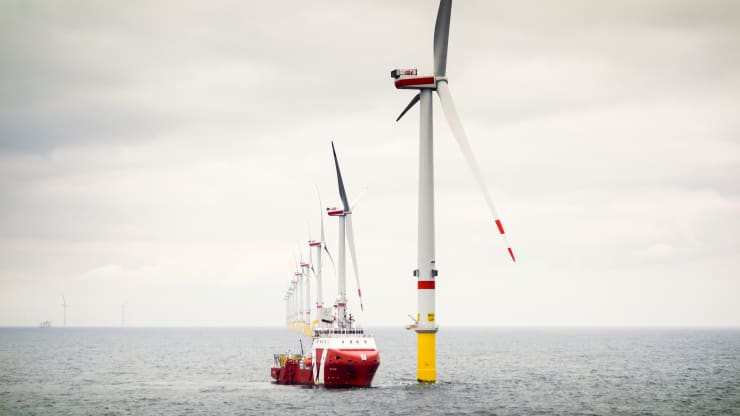 Orsted desire to link a giant offshore wind farm to renewable hydrogen production